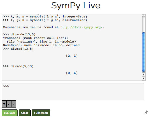 Long Division with SymPy